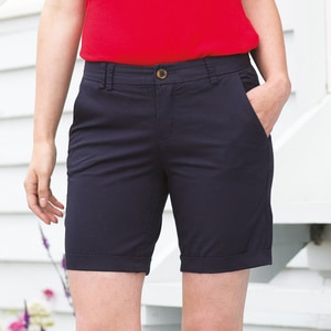 Front Row FR606 - Womenss stretch chino shorts tagless