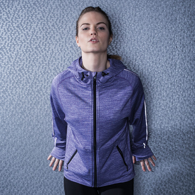 Tombo Teamsport TL551 - Women's lightweight running hoodie with reflective tape