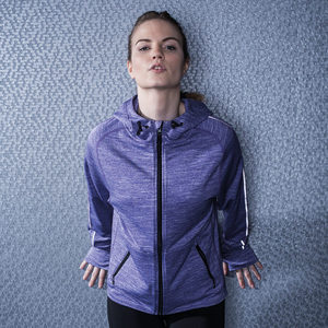 Tombo Teamsport TL551 - Womens lightweight running hoodie with reflective tape