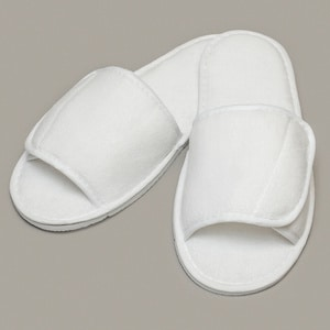 Towel City TC067 - Open toe slippers with hook and loop strap