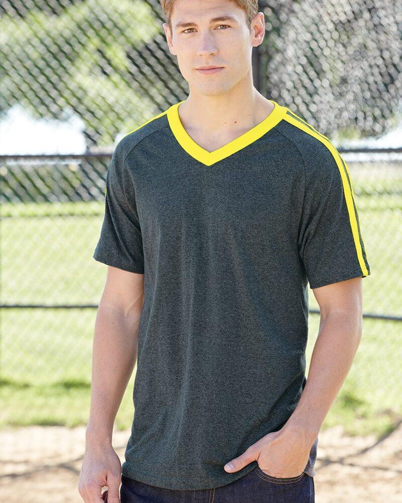 Augusta Sportswear 363 - Get Rowdy Shoulder Stripe T-Shirt