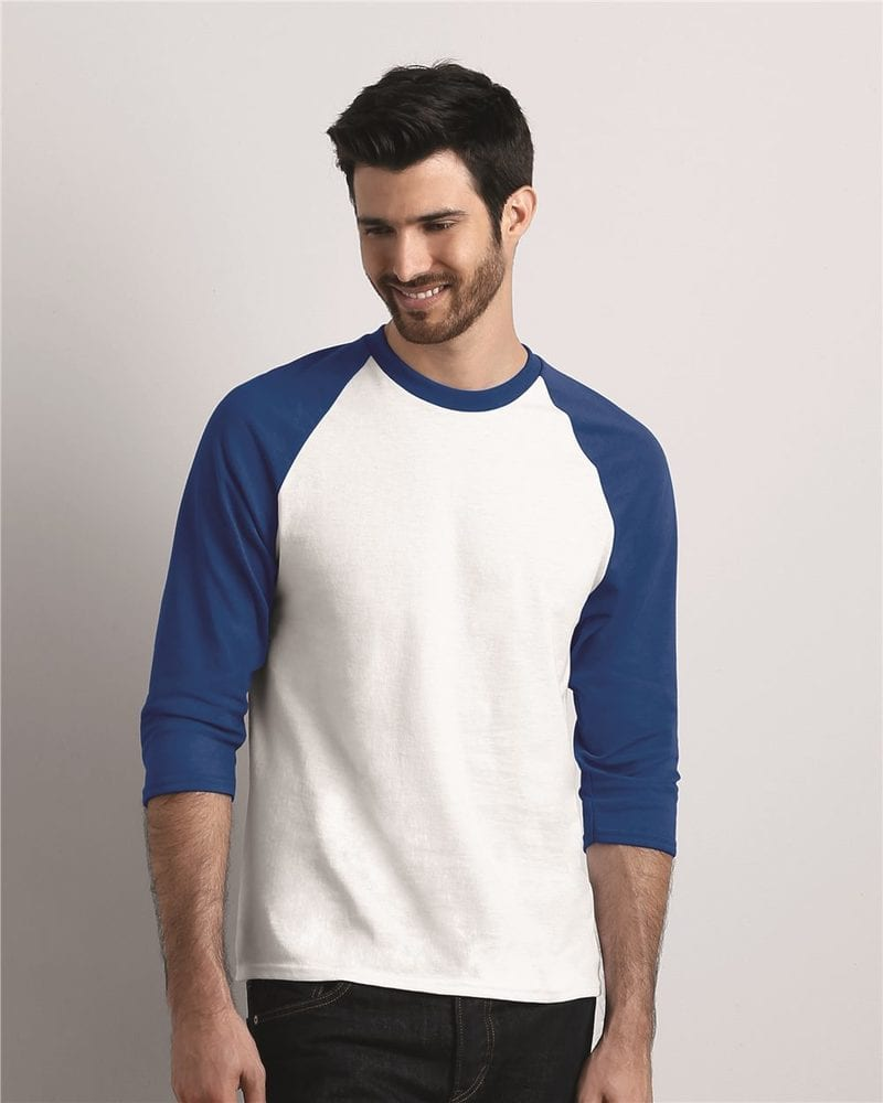 Gildan 5700 - Heavy Cotton Three-Quarter Raglan Sleeve T-Shirt