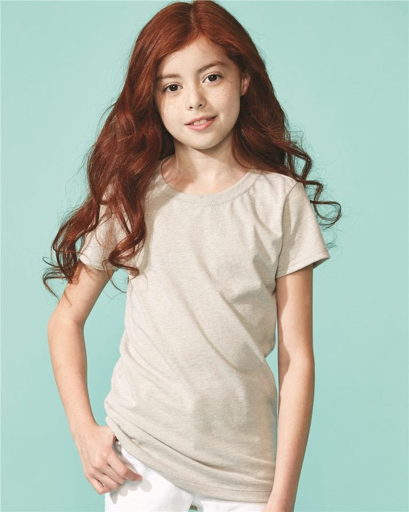 Next Level 3712 - Remera Princesa de niña  con cuello redondo