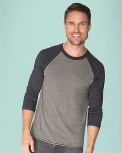 Next Level 6051 - T-shirt raglan unisexe à manches trois-quarts en tri-blende
