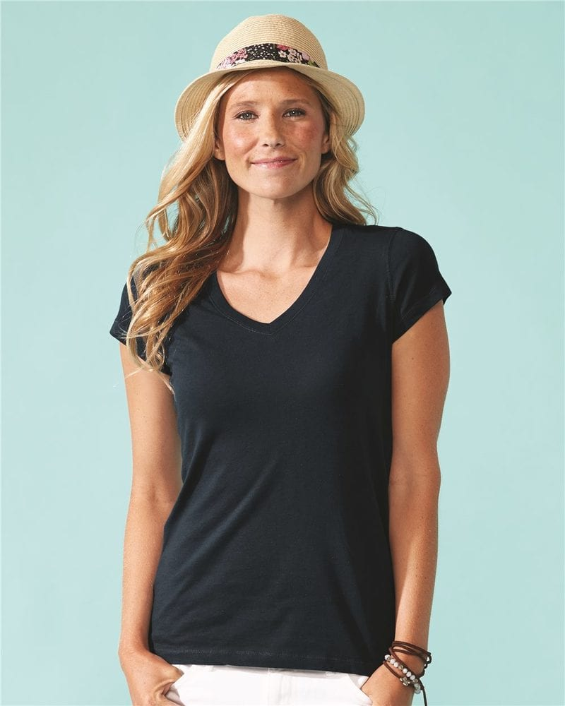 Next Level 6480 - Women's Sueded Short Sleeve V