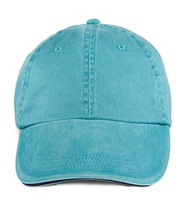 Anvil 166 - Solid Low Profile Sandwich Trim Pigment Dyed Twill Cap