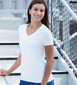Paragon 203 - Remera de rendimiento en cuello en V para mujer