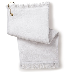 Anvil T60G - Towels Plus By Fringed Fingertip Towel With Corner Grommet And Hook