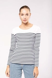 Kariban K386 - Ladies's striped long sleeve mariniere