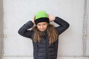 K-up KP522 - TWO-TONE KIDS HAT WITH TURN UP