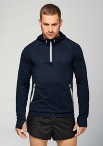 Proact PA360 - 1/4 zip hooded sports sweatshirt