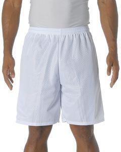 "A4 N5296 - Shorts  de malla de tricot con entrepierna de 9"""
