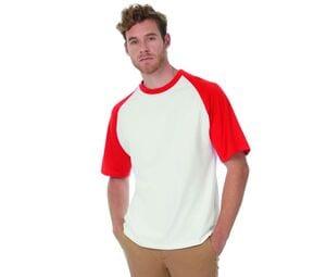 B&C BC230 - T-Shirt Baseball Manches Raglan Contrastées