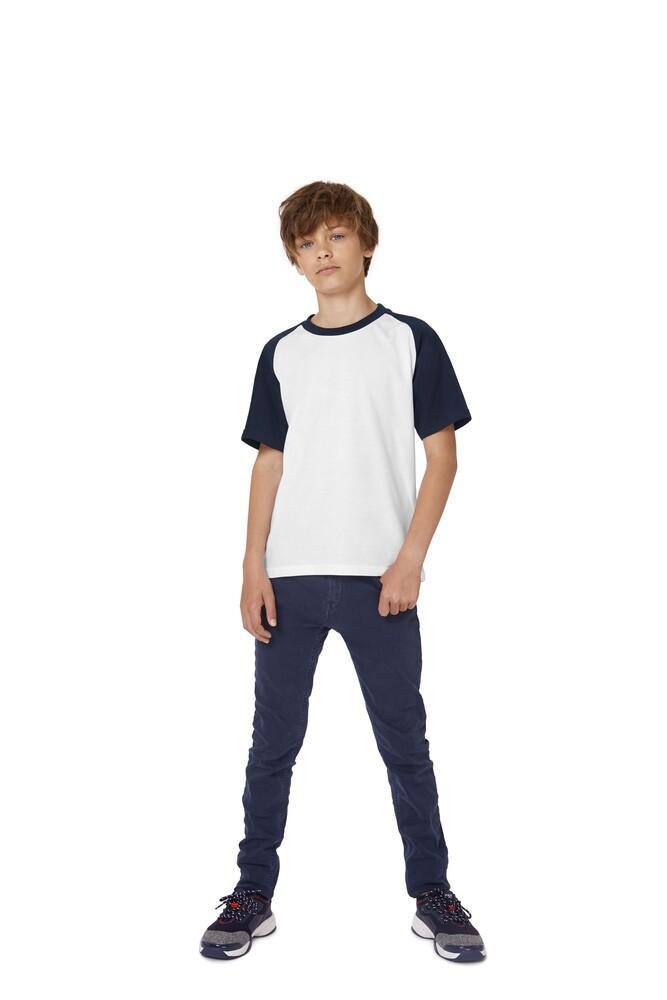 B&C BC231 - T-Shirt Enfant à Manches Raglan