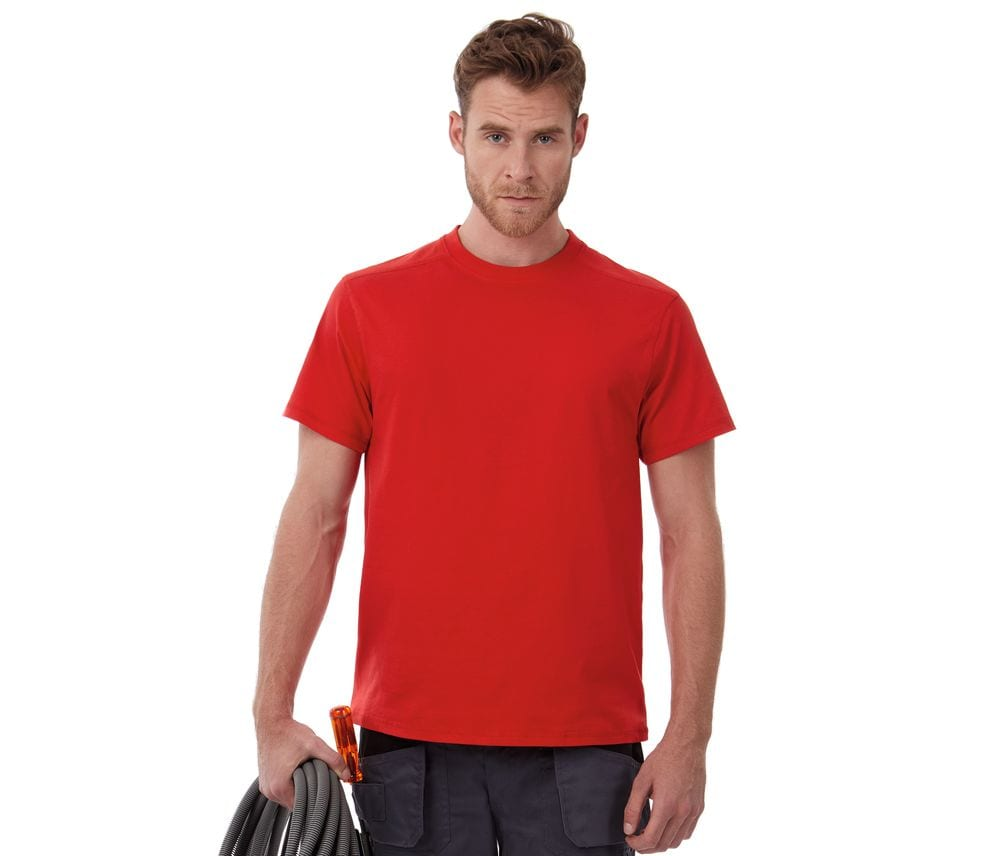 B&C Pro BC805 - Tee-Shirt Homme Col Rond Manches Courtes Pro