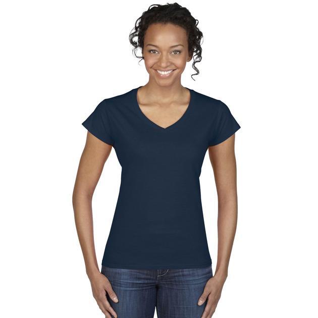 Gildan GN412 - Women's V-Neck T-Shirt 100% Cotton