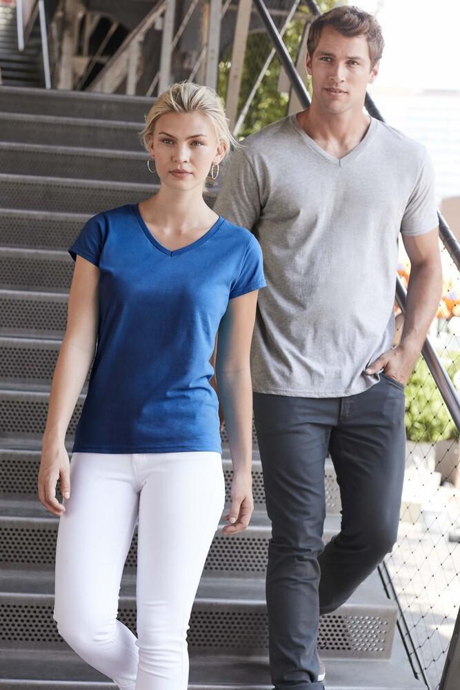 Gildan GN647 - T-Shirt Femme Col V 100% Coton