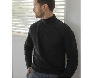Henbury HY020 - T-Shirt Manches Longues Homme Col Roulé