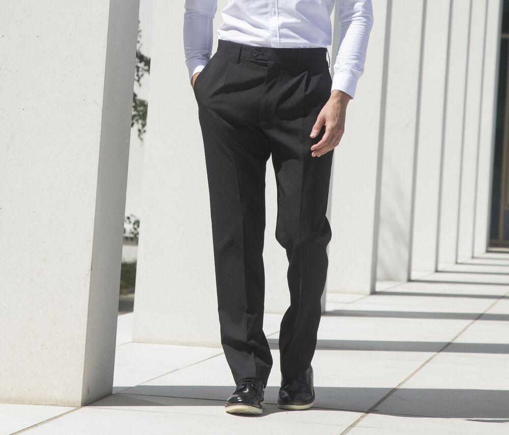 Henbury HY603 - Single Pleat Men's Trousers