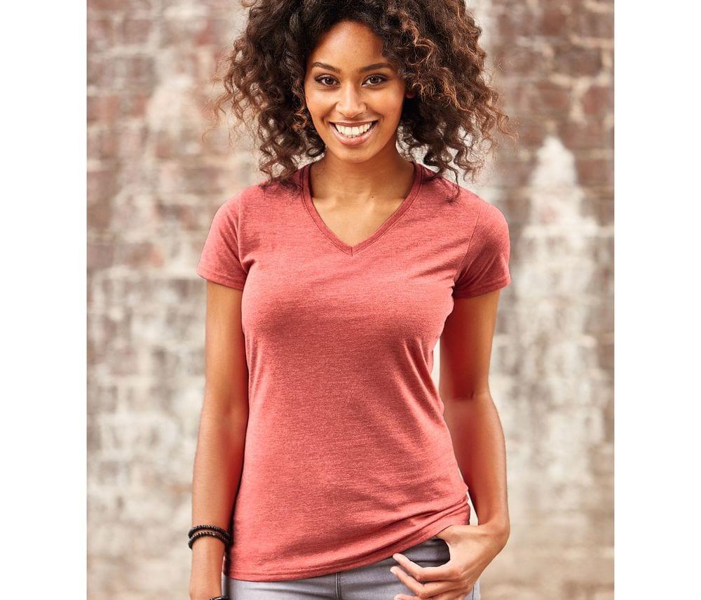 Russell JZ164 - T-Shirt Col V Femme
