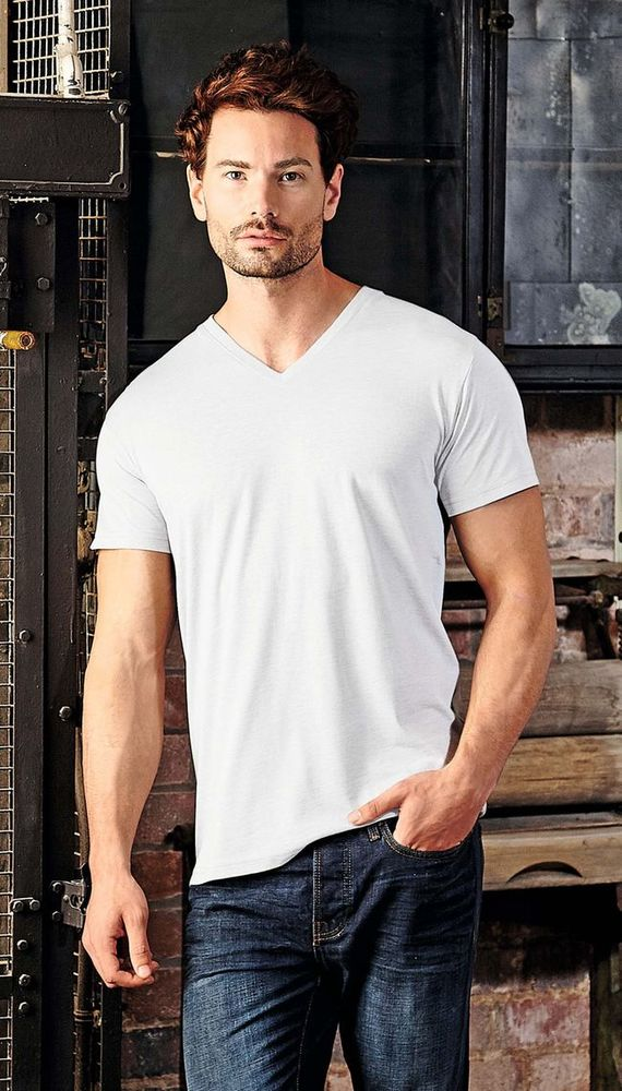 Russell JZ166 - T-Shirt Col V Homme