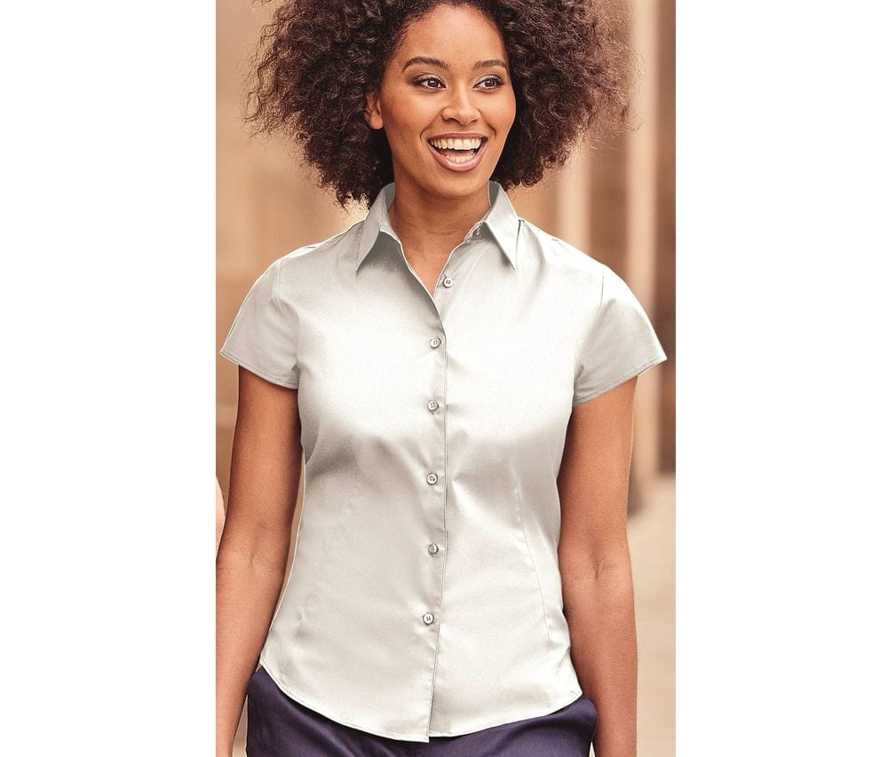 Russell Collection JZ47F - Chemise Manches Courtes Femme