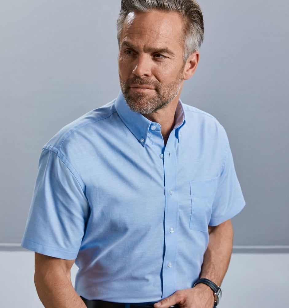 Russell Collection JZ933 - Short Sleeve Easy Care Oxford Shirt