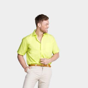 Russell Collection JZ935 - Mens Short Sleeve Polycotton Easy Care Poplin Shirt