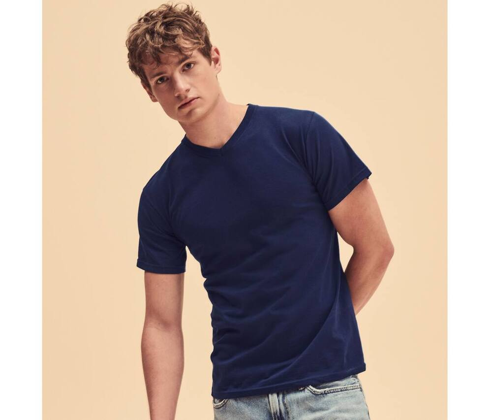 Fruit of the Loom SC234 - Men's V-neck Tee Shirt Valueweight