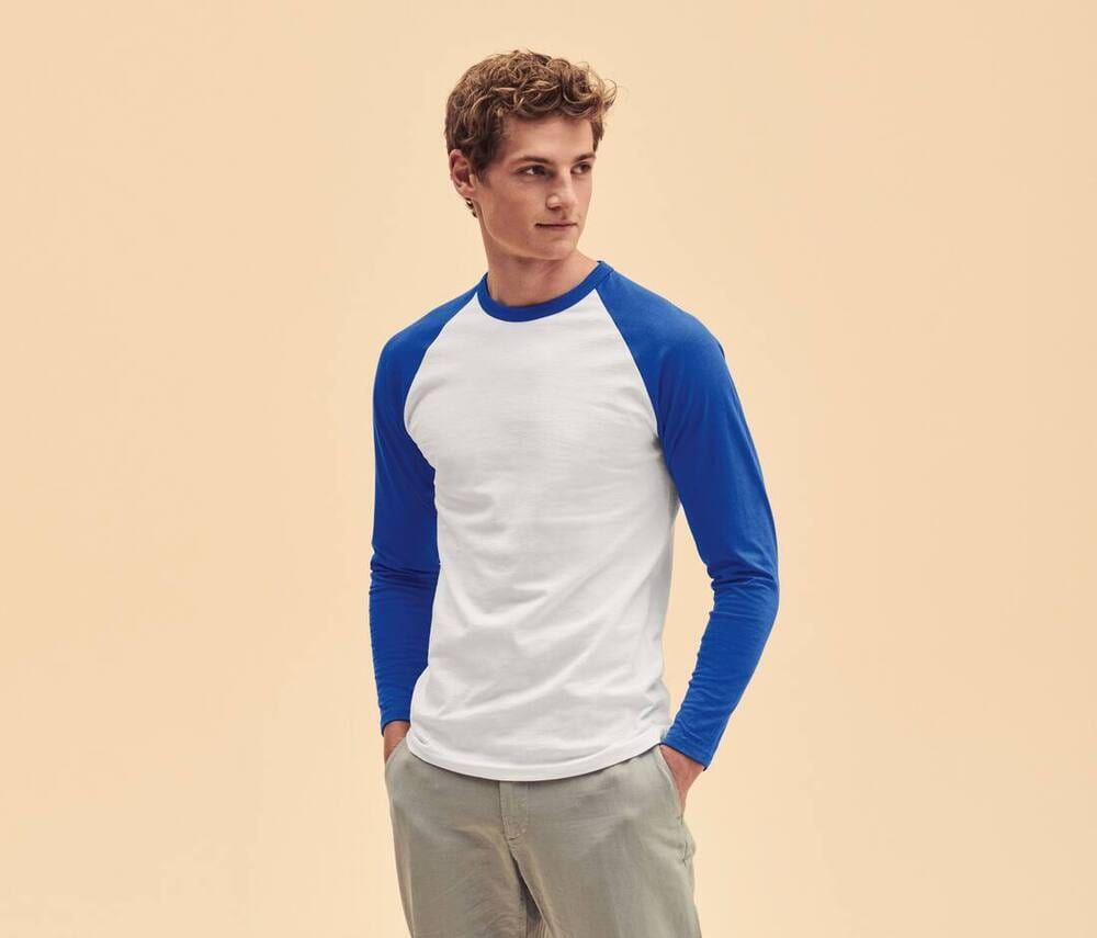 Fruit of the Loom SC238 - Baseball Longsleeve T