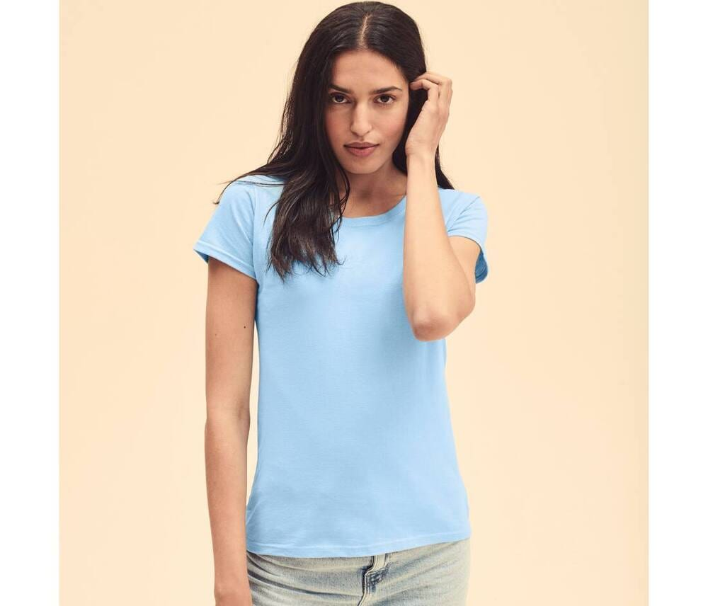 Fruit of the Loom SC600 - T-Shirt Femme Coton Lady-Fit