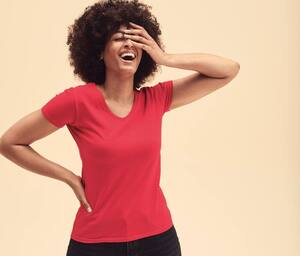 Fruit of the Loom SC601 - T-Shirt Mulher Valueweight Gola V