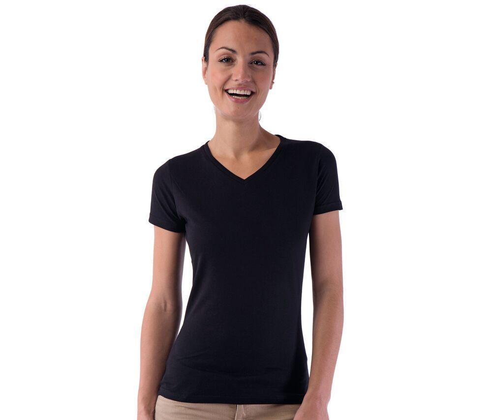 Sans Étiquette SE634 - T-Shirt Femme Col V