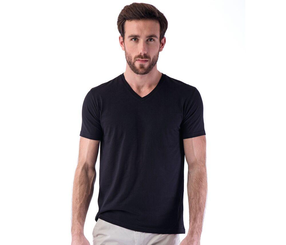 Sans Étiquette SE683 - T-Shirt Col V Homme