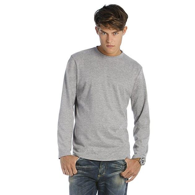B&C BC195 - T-Shirt Homme Manches Longues 100% Coton