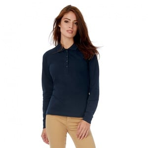 B&C BC426 - Safran Long Sleeve Polo Shirt Women