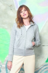 B&C BC506 - Hooded full zip /women