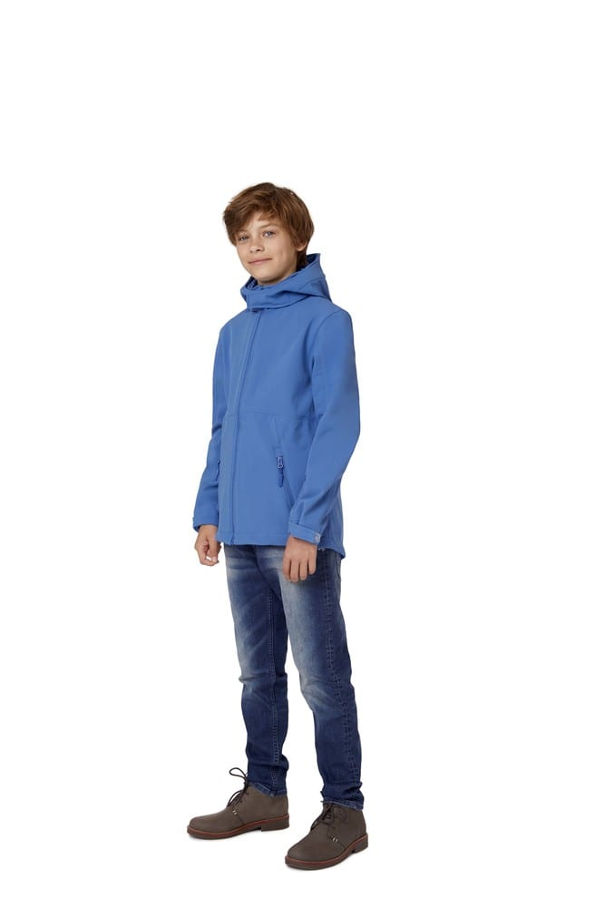 B&C BC651 - Hooded Soft-Shell Kids