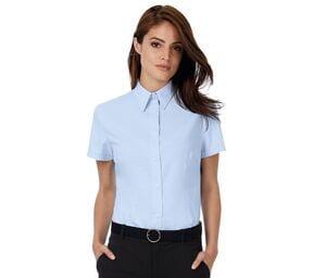 B&C BC703 - Elegancka koszula z krótkim rękawkiem Oxford dla niej.