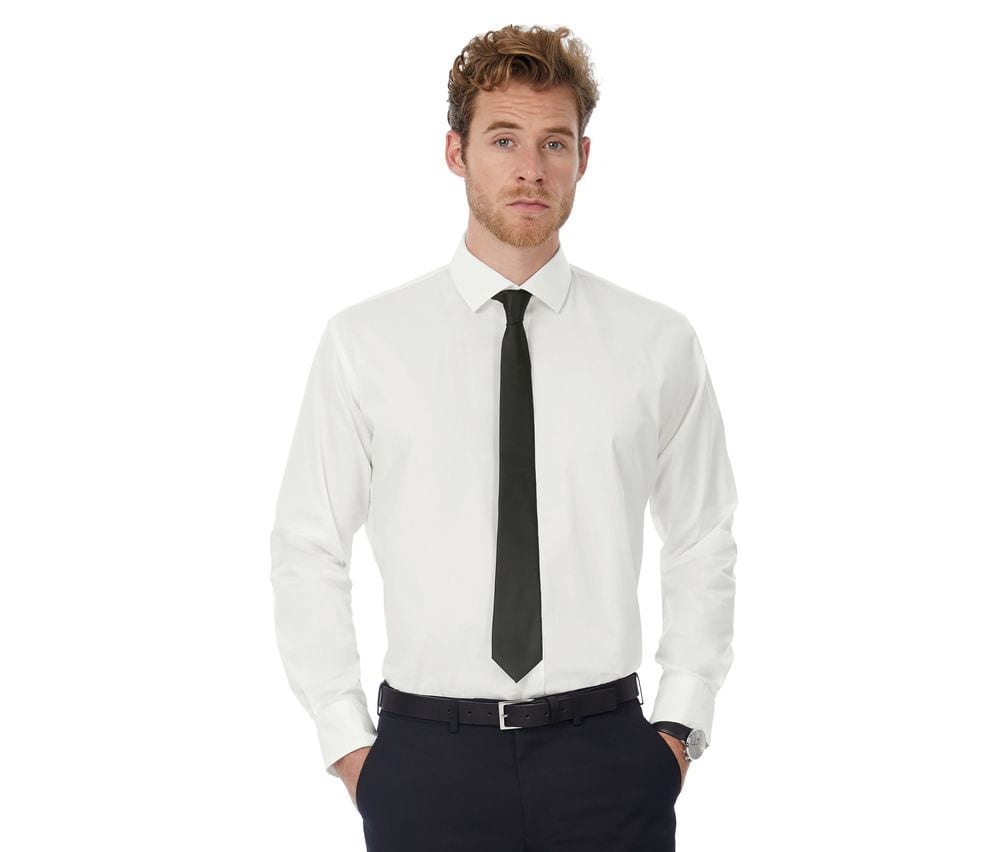B&C BC710 - Black Tie Long Sleeves Men