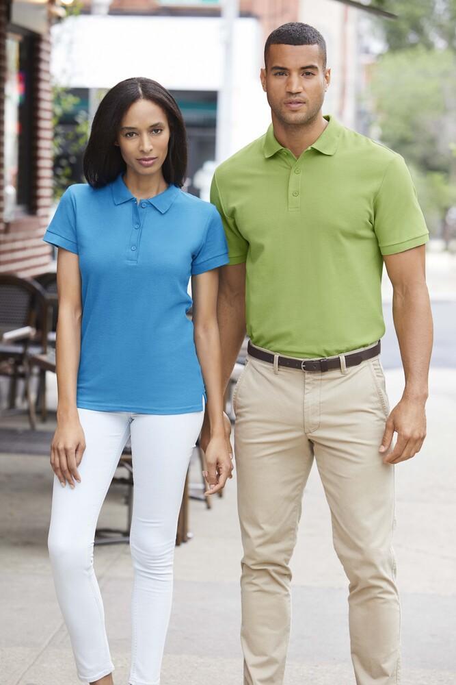 Camiseta deportiva tipo polo algod/ón premium Gildan