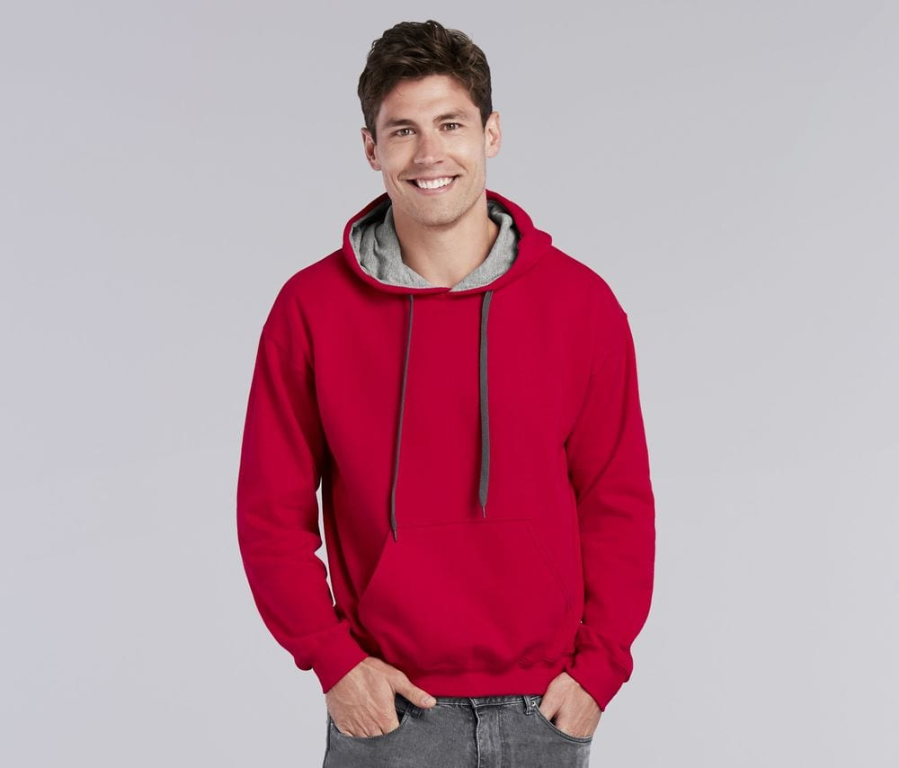 Gildan GN945 - Heavy Blend Adult Contrasted Hooded Sweatshirt