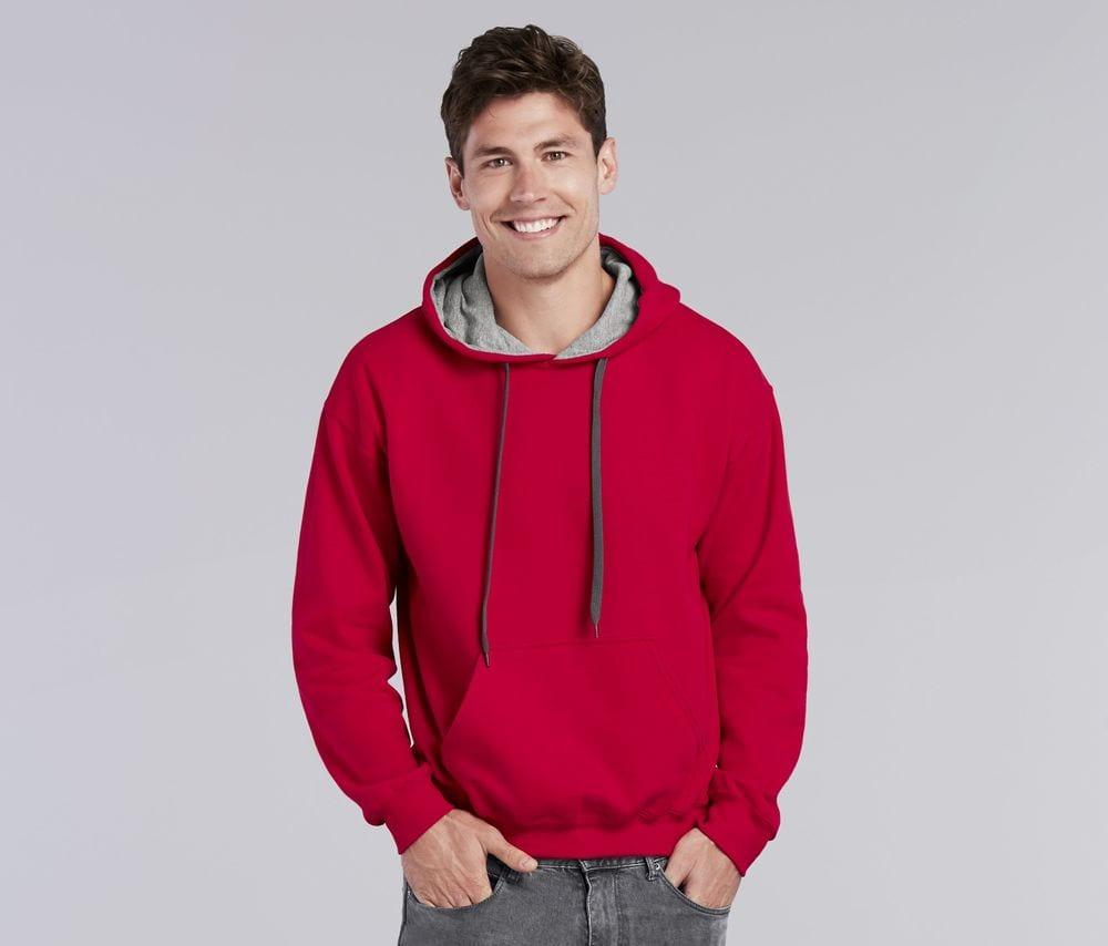 Gildan GN945 - Heavy Blend Adult Contrasted Hooded Sweatshirt