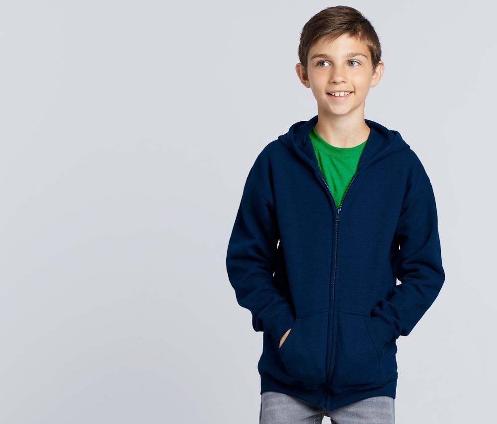 Gildan GN962 - Youth Full Zip Hooded Sweatshirt