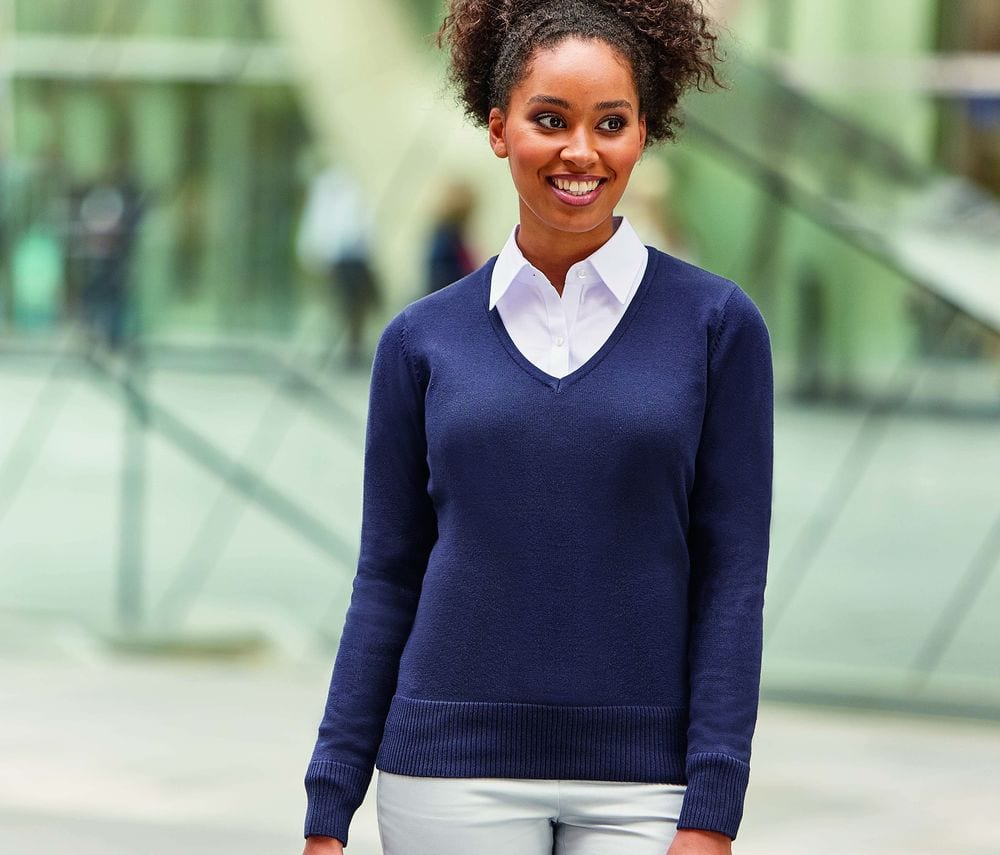 Russell Collection JZ10F - V-Neck Pullover