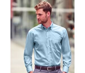 Russell Collection JZ956 - Camisa De Homem - Manga Comprida Ultimate Non-Iron