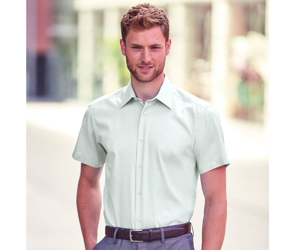 Russell Collection JZ959 - Short Sleeve Tailored Ultimate Non Iron Shirt