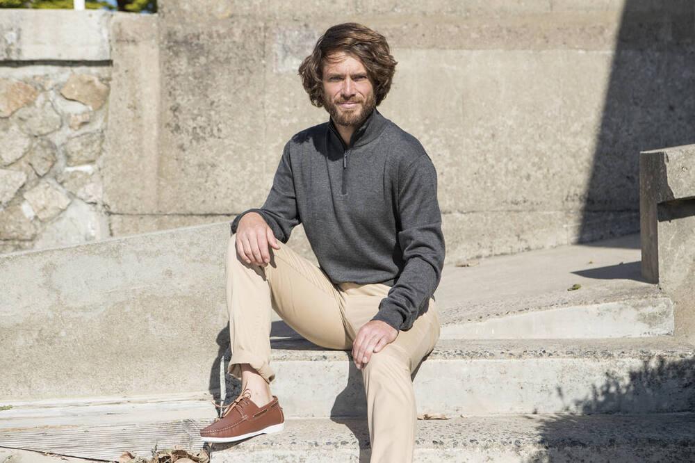 Pen Duick PK455 - Sweat-Shirt Homme Col Zippé Coton