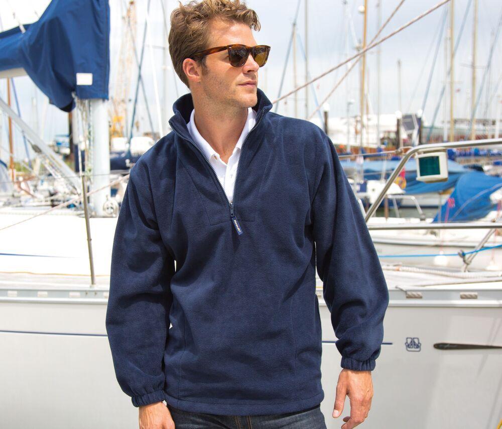 Result RS033 - men's fleece jacket with zip collar