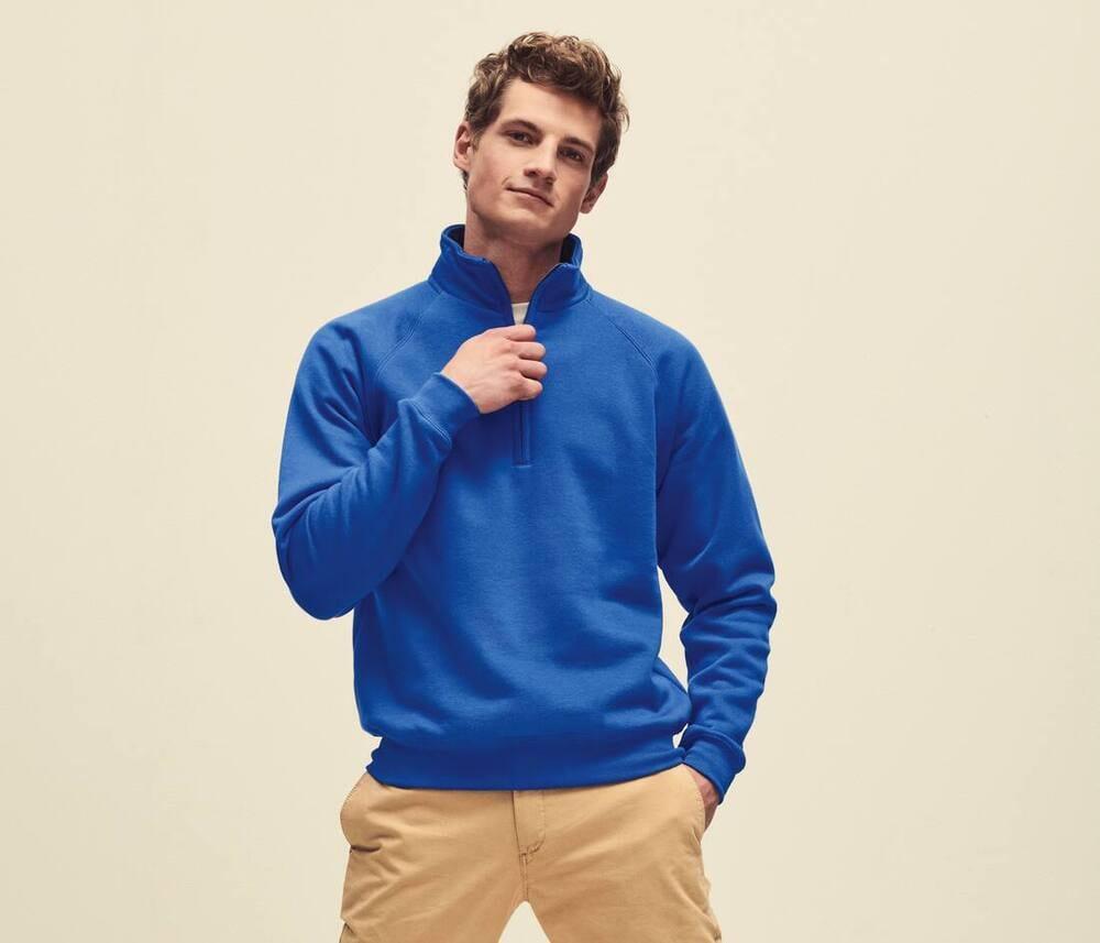 Fruit of the Loom SC276 - Men's Premium Zip Neck Sweatshirt